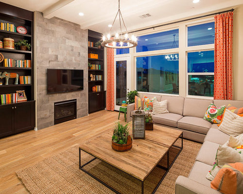 Los angeles living room design ideas remodels photos for Family room los angeles