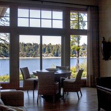 Contemporary Living Room by Nancy Finneson, AKBD, CAPS / DeMane Design