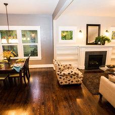 Craftsman Living Room by Portland Development Group