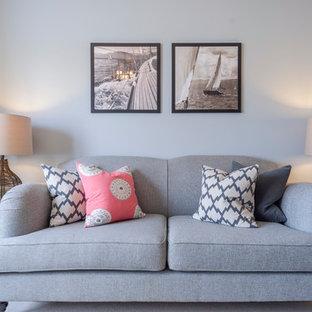 Example of a coastal living room design in Dorset