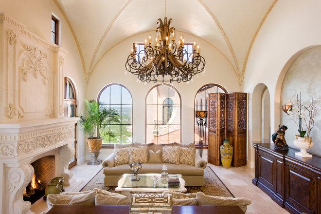 Mediterranean Living Room by My Villa Austin