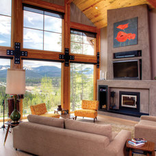 Contemporary Living Room by Munn Architecture, LLC