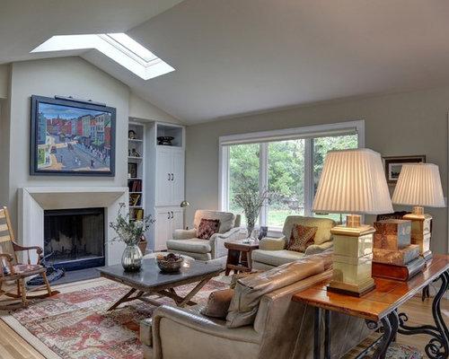 1950s Ranch Living Room Design Ideas Remodels Photos