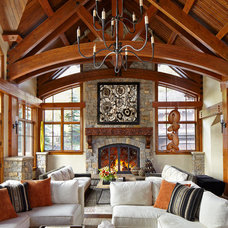 Rustic Living Room by Greenauer Design Group