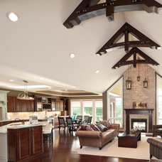 Traditional Living Room by Robert Lucke Homes