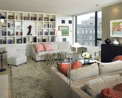 Beautiful Example Of A Huge Transitional Living Room Library Design In Boston Part 26