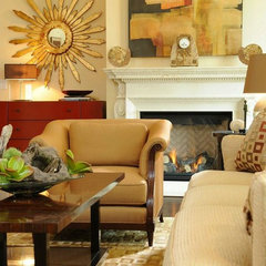 traditional living room by AMA Interiors