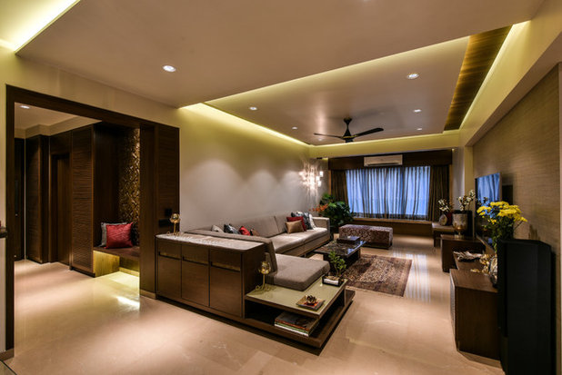 Contemporary Living Room by AShah Architects