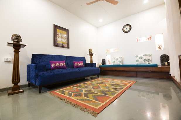 Asian Living Room by Mayank Bisht Designs