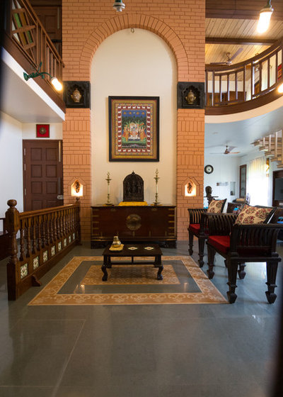 Asian Family Room by Mayank Bisht Designs