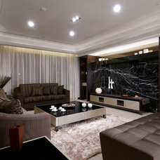 Contemporary Living Room by archehome