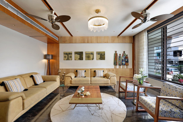 Contemporary Living Room by Pranav Patel Design Studio