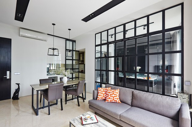 Fusion Living Room by Fuse Concept Pte Ltd