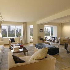Modern Living Room by TEK Architects, PC