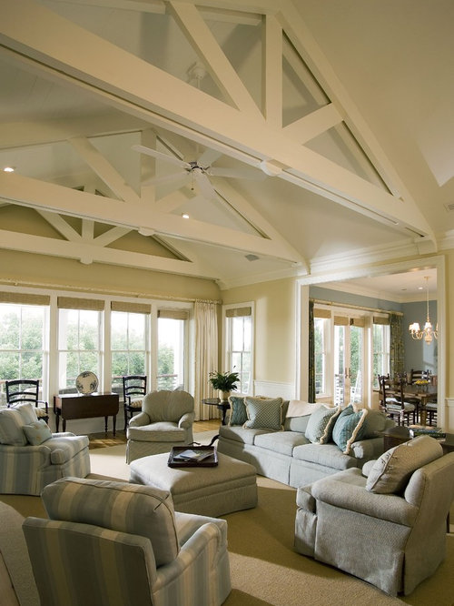 White Painted Beams Houzz