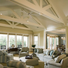 Beach Style Living Room by Catalyst Architects, LLC