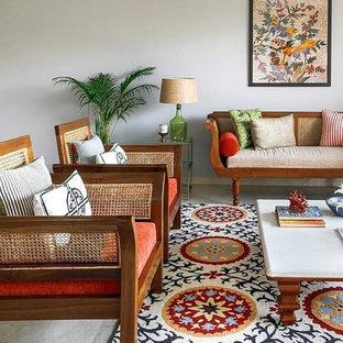 Asiatisches Wohnzimmer in Mumbai