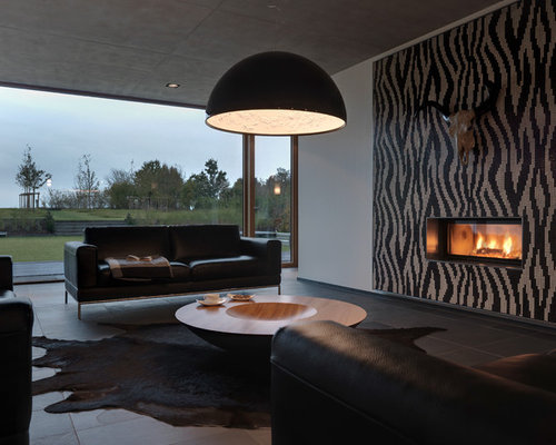 7 Basement Ideas On A Budget Chic Convenience For The Home: Black Living Room Home Design Ideas, Pictures, Remodel And
