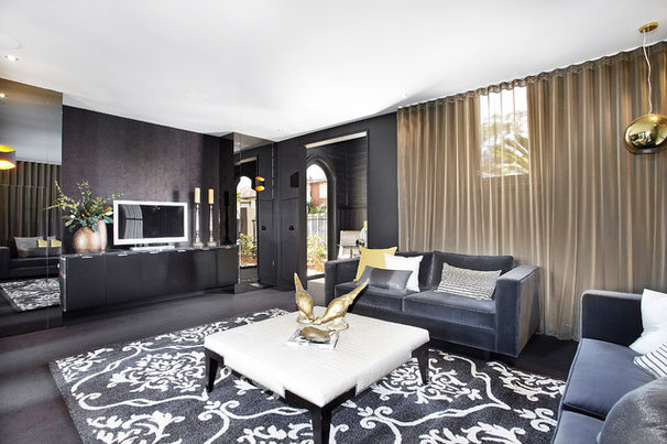 Contemporary Living Room by Bagnato Architects