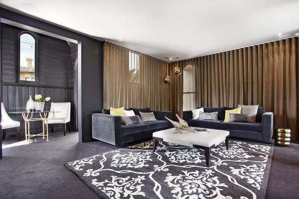 Contemporary Living Room by Bagnato Architecture & Interiors