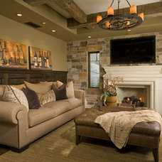 Mediterranean Living Room by Venture One Design, Inc.