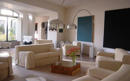 contemporary living room Residential Design by interior designers Bentheim,UK Stylish trade fair design f