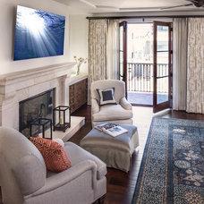Mediterranean Living Room by Reinhardt Bros Marble