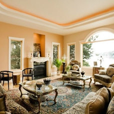 Mediterranean Living Room by Southern Pefection Painting Inc.