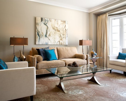 Awesome Inspiration For A Mid Sized Eclectic Living Room Remodel In Toronto With  Beige Walls Part 9