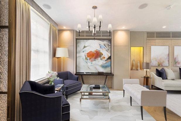Transitional Living Room by Casa e Progetti