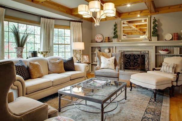 Traditional Living Room by Chad Jackson Photo