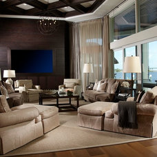 Transitional Living Room Residential Luxury
