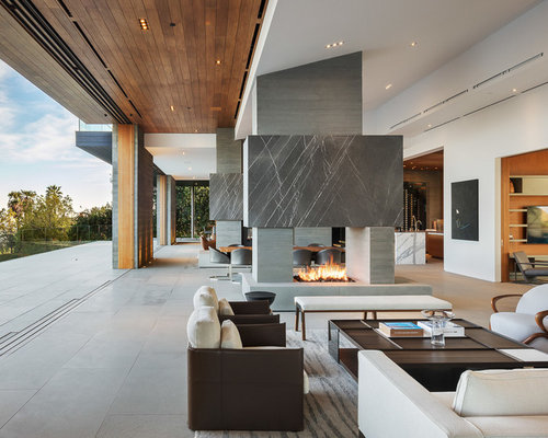 interior living room design photos. Minimalist formal and open concept concrete floor gray living room  photo in Los Angeles 10 All Time Favorite Living Space Ideas Decoration Pictures Houzz