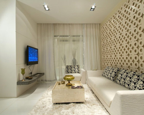 This Is An Example Of A Contemporary Living Room In Mumbai