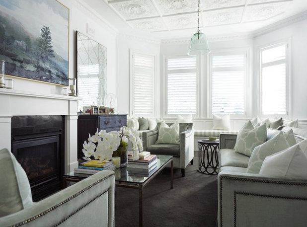 Traditional Living Room by Denai Kulcsar Interiors