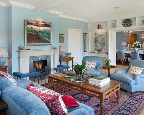 Gold And Blue Living Room Houzz