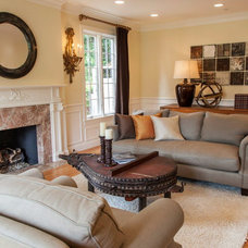 Traditional Living Room by Rosichelli | Design