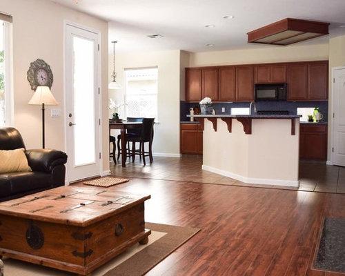 k chen mit k chenr ckwand aus stein und laminat arbeitsplatte ideen bilder. Black Bedroom Furniture Sets. Home Design Ideas