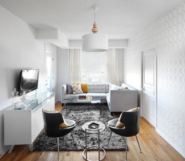 Contemporary Living Room by LUX Design | Interior Design Build