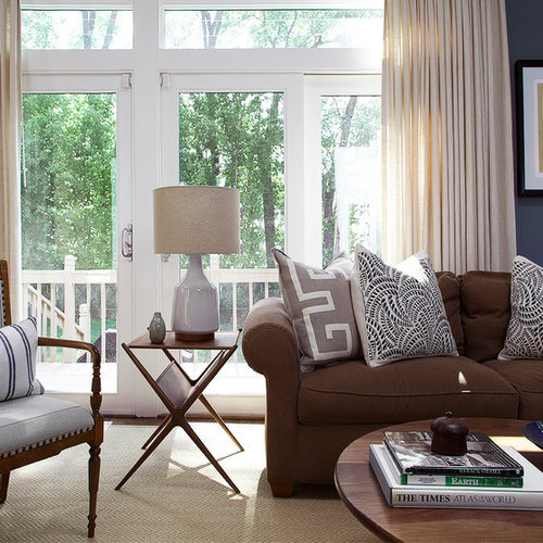 Love The Blue Walls With Brown Couch: Brown Couch Gray Walls