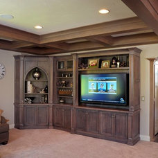 Transitional Living Room by Mullet Cabinet