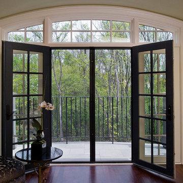 Retractabe Door Screens on Living Room French Doors