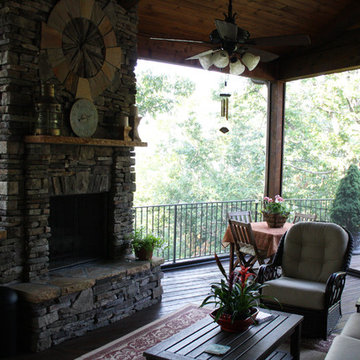 Retractable insect screens at luxury mountain lodge