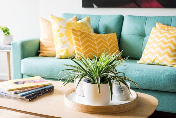 Midcentury Living Room by Amanda Smythe Design