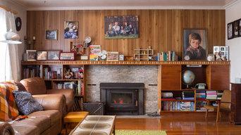 Retro Lounge Room Interior