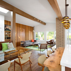 Midcentury Living Room by Sarah Gallop Design Inc.