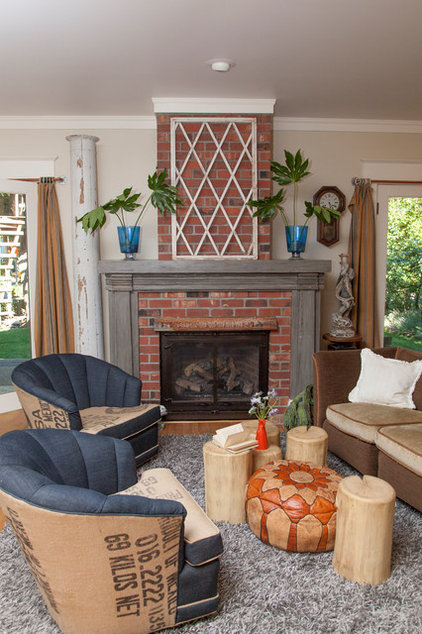 Eclectic Living Room by Whitney Lyons