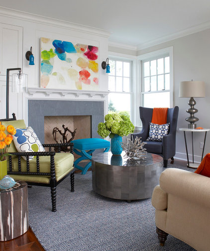 Beach Style Family Room by Rachel Reider Interiors