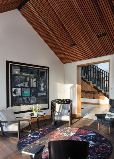 Contemporary Living Room by PRau - Phil Redmond Architecture & Urbanism