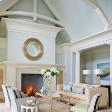 Traditional Living Room by Eileen Marcuvitz Plum Interiors